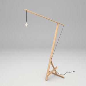 3D lamp wood model