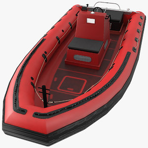3D inflatable rescue boat model