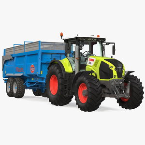 3D tractor claas axion 800