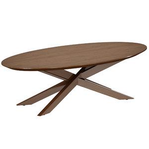 wood coffee table apex 3D model