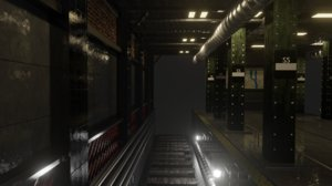 trainstation underground 3D model
