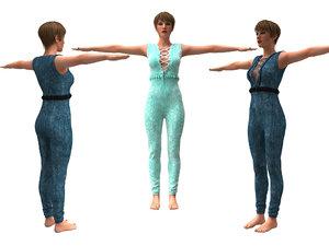3D realistic womans clothing design model