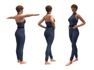 3D realistic female clothing jumpsuit