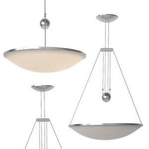 3D luceplan trama suspension lamp model