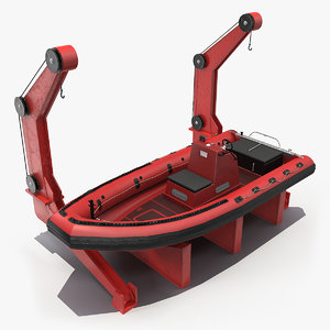 3D boat crane model