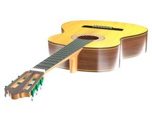 3D model classical guitar