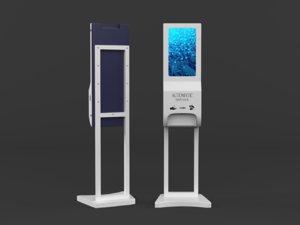 3D hand sanitizer dispenser model