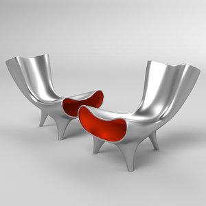 3D orgone chair