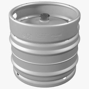 3D model stainless steel beer keg
