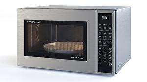oven smc1585bs - sharp 3D model