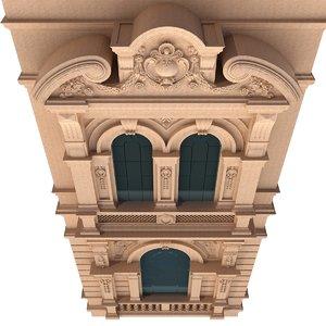 3D classic facade architectural