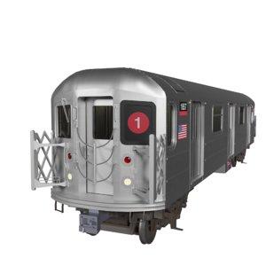 r62a subway train nyc 3D model