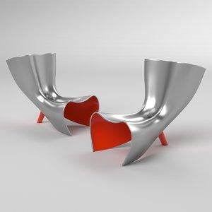 3D alufelt chair