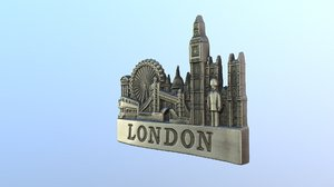 3D city london england magnet