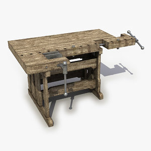 3D workbench work bench model