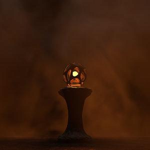 magical light column 3D model