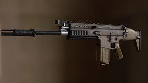 scar scar-h rifle 3D