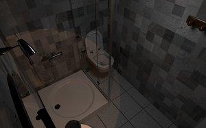 bathroom small 3D model