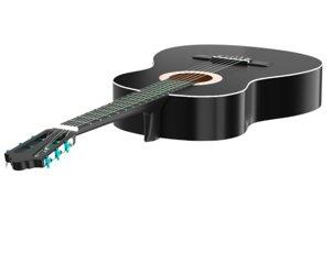 3D black classical guitar