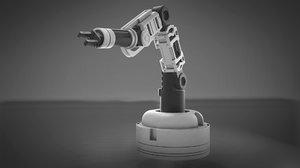 assembly line robot arm 3D