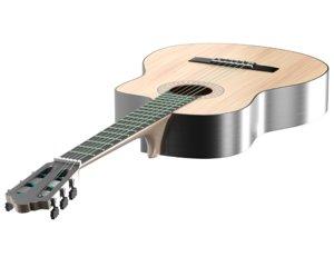 dark classical guitar 3D model