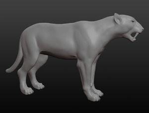 tiger saber-toothed model