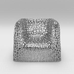 3D random pak chair model