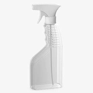 3D model spray bottle plastic 450