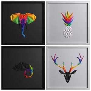 3D model paper artwork 06