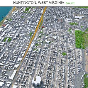 3D model city area building