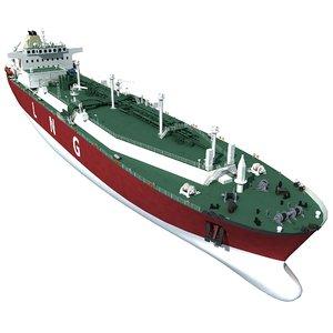 3D lng tanker ship