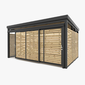 3D shed structure shelter