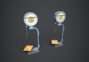 laboratory scales 3D model