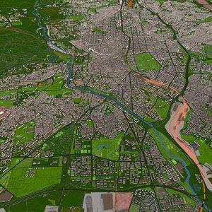 madrid city spain model