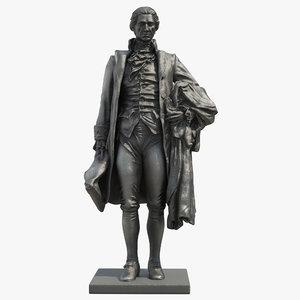 hamilton statue 3D model