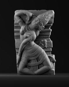 3D apsara hindu
