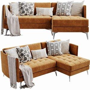 boconcept osaka chaise lounge 3D