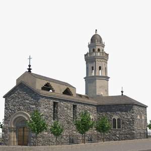 3D church building