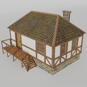 3D house medieval