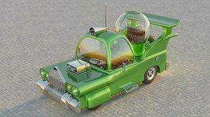 homer car simpsons 3D