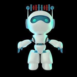 3D robot mascot character animation