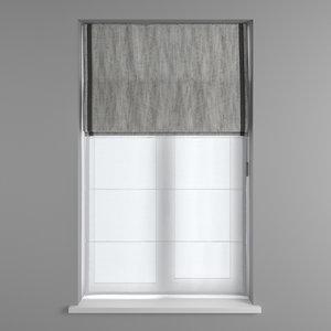 window roman blinds model