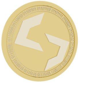 3D model torque gold coin