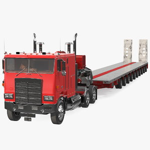 cabover truck steerable heavy model