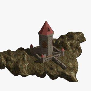 3D castle architecture building