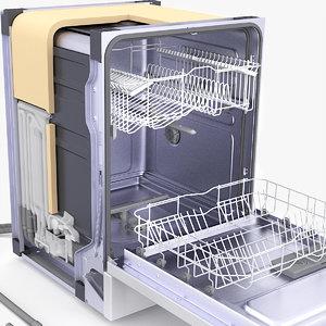 dishwasher infographic graphi 3D model