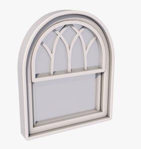 3D window antique gothic