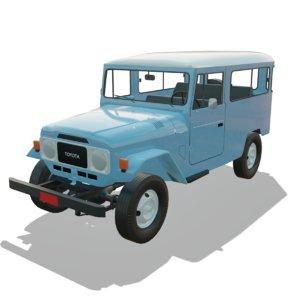 toyota land cruiser 1985 3D model