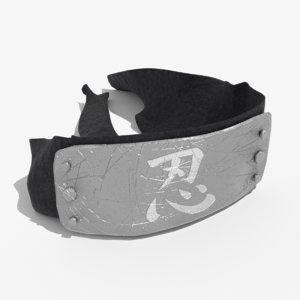 ninja headband 3D model