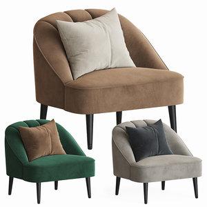 3D model margot accent armchair